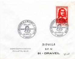 HISTOIRE = 17 BROUAGE 1970  = CACHET TEMPORAIRE Illustré CONCORDANT N° 1068 = Anniversaire Naissance Champlain QUEBEC - Commemorative Postmarks
