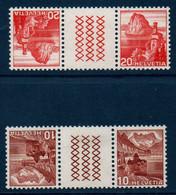 CH 1938-39  Lac De Lugano Et Château De Chillon N°YT 312 Et 338 Tête-bêche Avec Pont  ** MNH - Nuevos