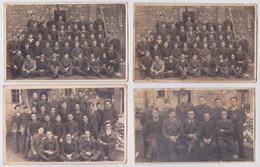 Bad Sulza (?) Otto Schröder Stalag IX C Carte-photo Prisonnier De Guerre Famille Bugnet Barastre Bertincourt 4 Cartes - Guerre 1939-45