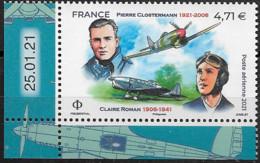 PA Neuf **  2021  Pierre Closterman & Claire Roman  à 4,71 €  ( Avec Coin Daté ) - 1960-.... Mint/hinged