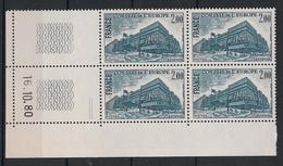 France - 1980 - Service N°Yv. 64 - Bloc De 4 Coin Daté - Neuf Luxe ** / MNH / Postfrisch - Service
