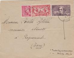 Yvert 382 Berlioz + 244 Légion + 406 Mercure Lettre Cachet LE MUY Var à Roquecourbe Tarn - Voir Description - 1921-1960: Modern Tijdperk