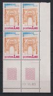 France - 1981 - Service N°Yv. 68 - Bloc De 4 Coin Daté - Neuf Luxe ** / MNH / Postfrisch - Service