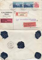LETTRE. SUISSE. C.A.LOOSLI. RECOMMANDE BERN EXPRES 80.  POUR EBNAT. 5 CACHETS CIRE AC  / 2 - Storia Postale