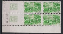 France - 1984 - Service N°Yv. 82 - Bloc De 4 Coin Daté - Neuf Luxe ** / MNH / Postfrisch - Service