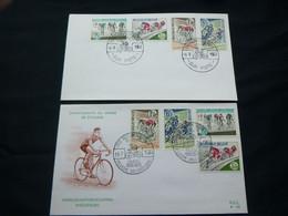 """BELG.1963 1255-1258 FDC 's ( Brux-Brus & Piste ) : """" Wielrijdersbond-vélocipédique """" - 1961-70"""