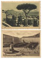 Italien Napoli Panorama + Piazza Municipio E Monumento A Vitt Em II   1942 - Napoli (Napels)