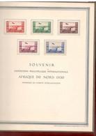Flugpost-Vignetten AFRIQUE DU NORD 1930 Großes Sonderblatt Des Institut De Gravure Paris -  Kartoniert - Luftpost