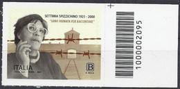 Italia / Italien 2021 Settimia Spizzichino Con Codice A Barre / Mit Strichkode - Codici A Barre