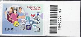 Italia / Italien 2021 Professioni Sanitarie Con Codice A Barre / Mit Strichkode - Bar Codes