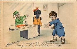 Fantaisie - Négritude - Illustrateur '' Jacobs '' - Comme Gros Lot , J'espérais Mieux - Autres Illustrateurs