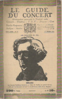 JU / Programme Program  Music MUSIQUE  GUIDE Du CONCERT  01 Février 1946 Hector BERLIOZ   Pasdeloup Concerts - Programma's