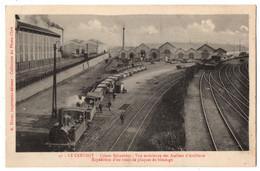 CPA 71 - LE CREUSOT (Saône Et Loire) - 41. Usines Schneider. Vue Extérieure Des Ateliers D'artillerie. Expédition D'un T - Le Creusot