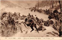 Peinture - Salon 1909 - Arus - épilogue De L'armée De L'est (1871) - Vers La Suisse - Altre Guerre