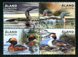 Aland 2013 Birds - Loons & Grebes Set Used (SG 384-387) - Aland