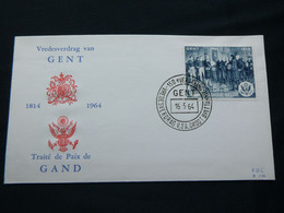 "BELG.1964 1286 FDC (Gent) :"" Traité De Paix De Gand 1814-vredesverdrag Van Gent "" - 1961-70"