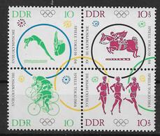 DDR  1039-1043 ** Viererblock - Se-Tenant