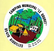 AUTOCOLLANT STICKER - CAMPING MUNICIPAL LE GOURET 05470 AIGUILLE - HAUTES-ALPES - Pegatinas