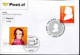 Germany Austria Special Cover  - Music - Composer Mozart - Musica