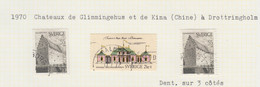 SUEDE USED YVERT 662/63 & 663a Château & Palais De Glimmingehus & De Kina - Used Stamps