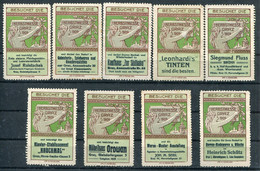 1909 Austria Besuchet Die Herbstmesse Graz X 9 Ausstellung Exhibition Labels - Unclassified
