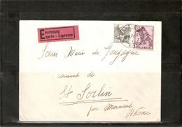 SUISSE . LETTRE PAR EXPRESS DE GENEVE Pour La FRANCE. 1941 . Timbres 297 + 360 . - Sin Clasificación