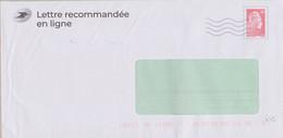 Prêt à Poster Marianne L'engagée Lettre Recommandée En Ligne (le Pli Contenu Est Doté D'un QR Code Voir Détail) - Prêts-à-poster:Stamped On Demand & Semi-official Overprinting (1995-...)
