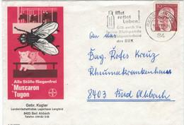 Illustriertes Kuvert  - Gebrüder Kugler Muscaron Tugon - Blut Rettet Leben - Diptera - Heinemann Regensburg 1977 Fliege - Covers & Documents