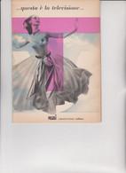 """LIBRETTO  EDITO DALLA """" RAI """" RADIOTELEVISIONE ITALIANA  NEL 1954.  AGLI  INIZI  DELLE  PROGRAMMAZIONI !!!! - Cinema Advertisement"""