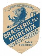 Etiquette De Bière : Brasserie Des Mureaux, Gilbert Blossier - Beer