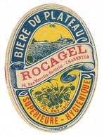 Etiquette De Bière : Bière Du Plateau, Rocagel, Charenton - Beer