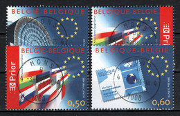 BELGIE: COB 3256/3259  Mooi Gestempeld. - Usados