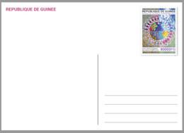 GUINEE GUINEA 2021 STATIONERY CARD - STRUGGLE AGAINST VARIANTS OF SARS COVID 19 PANDEMIC CORONAVIRUS CORONA - Emisiones Comunes