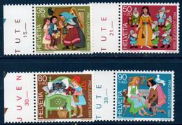 CH 1985  Pour La Jeunesse N°YT 1233-1236  ** MNH Bord De Feuille - Nuovi