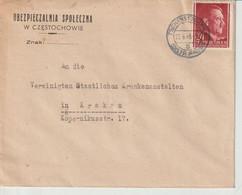 GENERALGOUVERNEMENT; Mi. 78, Tschenstochau, 22.6.43 - Occupation 1938-45