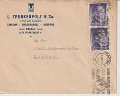GENERALGOUVERNEMENT; Mi. 75 MeF, Krakau 5. XII. 42, Abs. L. Trunkenpolz - Occupation 1938-45
