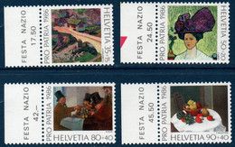 CH 1986  Pour La Patrie   N°YT 1246-1249   ** MNH  Bord De Feuille - Nuovi
