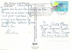 HAUTE GARONNE 31  -  BAGNERES DE LUCHON   - LUCHON DIM 27 8 89  90e FETE DES FLEURS LA REVOLUTION FRANCAISE - 1989 - Mechanical Postmarks (Advertisement)