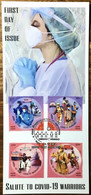India Covid Covid-19 Corona Maxicard Salute To Health Workers / Pandemic Health Disease Virus - Krankheiten