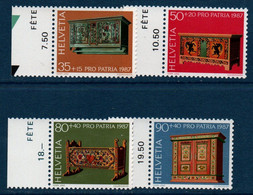 CH 1987  Pour La Patrie    N°YT 1276-1279   ** MNH   Bord De Feuille - Nuovi