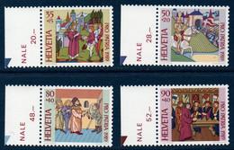 CH 1989  Pour La Patrie   N°YT 1319-1322   ** MNH   Bord De Feuille - Nuovi