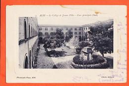 VEN215 ♥️ Rare ALBI 81-Tarn Collège De Jeunes Filles Cour Principale Sud 1900s Carte Détourée Cliché AILLAUD POUX 5 - Albi