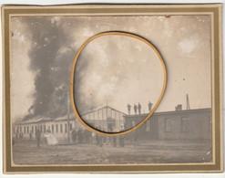 ARMEE BELGE - Photo. ASCH, Incendie Du Bloc Des élèves - 1914-18
