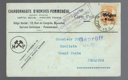 OC 13 / CP Commerciale Charbonnages D'Hensies Ville-Pommerœul 18 III 1917 => Jemappes - [OC1/25] Gouv. Gén.