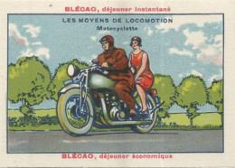 JU / Chromo CROMO IMAGE Moyens De TRANSPORT LOCOMOTION / MOTOCYCLETTE Moto - Other
