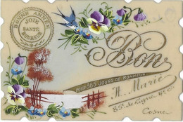 Carte Celluloïd; Bonne Année Envoyée Par H. Marie 85è De Ligne 4è Cie COSNE - Environ 115x75mm - Cosne Cours Sur Loire