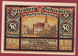 Allemagne 1 Notgeld  De 50 Pf  Stadt  Gottesberg (Silésie Pologne) (RARE)  Dans L 'état   Lot N °31 - Colecciones