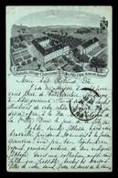 SUISSE - ROMONT - ABBAYE CISTERCIENNE N-D DE LA FILLE-DIEU - AUTOGRAPHE DU DIRECTEUR AU VERSO - CARTE LITHOGRAPHIQUE - FR Fribourg