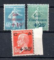 N1-6  France N° 246 à 248 ** à 10 % De La Côte. A Saisir !!! - 1900-27 Merson