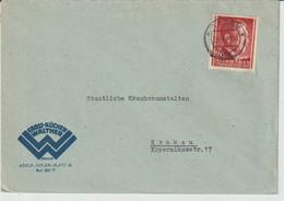 GENERALGOUVERNEMENT; Mi. 78, Krakau  23. 12. 43 Abs. Gross-Küchen Waltmer, Adolf-Hitler-Platz... - Occupation 1938-45
